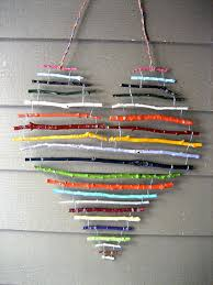 Ideas For Christmas Tree Branches by Diy Ideas With Twigs Or Tree Branches Twig Crafts Heart Shapes