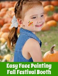 easy fall face painting removable fall festival fun for all with
