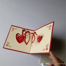 send gift cards 3d heart greetin diy card creative postcard handmade gift party
