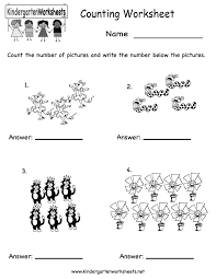 printable kindergarten worksheets counting worksheet free