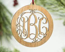 initial ornaments etsy