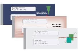 payment coupon books template examples