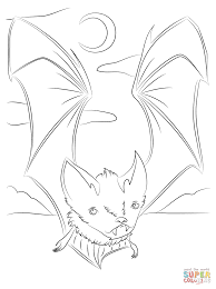 cute vampire bat coloring page free printable coloring pages