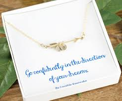 necklace gift images Gold arrow necklace graduation gift go confidently in the jpg