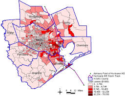 Reliant Power Outage Map Estimating The Economic Losses Of Hurricane Ike In The Greater