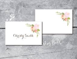 instant rustic floral place cards printable wedding