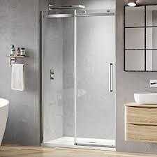 Easy Clean Shower Doors 1200 Mm Luxury Frameless 8mm Sliding Easy Clean Glass Shower