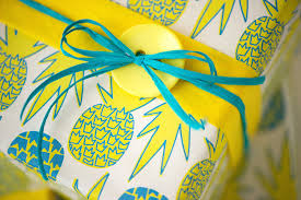 pineapple wrapping paper gift wrapping with buttons wrappily eco friendly gift wrap