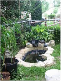 backyards winsome backyard pond tires 145 landscape waterfalls