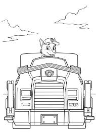 paw patrol coloring pages rocky vehicle coloringstar
