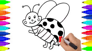 ladybug drawing and coloring pages learning colors ladybug for