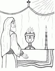 birth john baptist foretold coloring pages coloring
