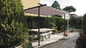 Retractable Sun Awning Trendy Sun Shade Retractable Patio Awning From Dark Green Canvas