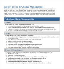 Project Project Management Change Request by Sample Change Management Plan Template 9 Free Documents In Pdf