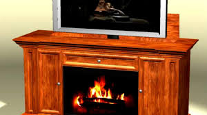 up lift tv cabinet with fireplace on vimeo