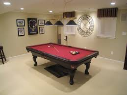 stunning basement game room design ideas with nice pool table game