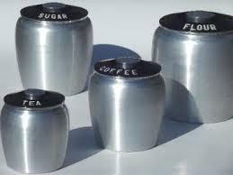 vintage retro kitchen canisters vintage kromex spun aluminum canister set retro kitchen canisters