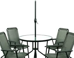 Patio Dining Sets With Umbrella Patio U0026 Pergola Grey Round Modern Metal Patio Furniture Sets