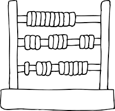 kids toy abacus coloring page free clip art