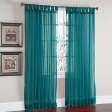 Sheer Teal Curtains Scenario Voile Tab Top Panels Curtains Drapes Brylanehome