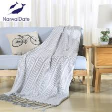 jeter de canape 120 180 cm solide couleur plaid jeter couverture canapé lit carré
