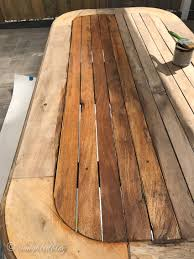 how to stain pine table how i used an wood dining table outside songbird