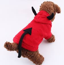 lovely dog halloween costume pet dog clothes little demon imp