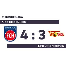 Fc Bayern Gutschein Vorlage by 1 Fc Heidenheim 1 Fc Union Berlin Union Berlin Patzt Bei