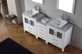 virtu usa 66 inch dior bathroom vanity white
