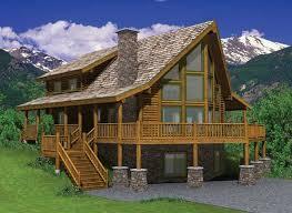 hillside cabin plans cope log home kit for sale house bulding