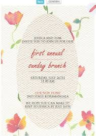 brunch party invitations 9 best wedding anniversary invitation cards images on