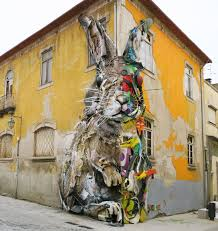 Sculpture Metal Murale by New Split View Trash Sculptures By Bordalo Ii Combine Wood And