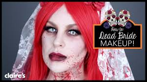 zombie bride halloween make up tutorial claire u0027s youtube