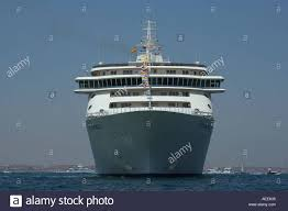cruise ship and floating apartment block the world off the stock