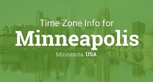 Time Difference Map Daylight Saving Time Dates For Usa U2013 Minnesota U2013 Minneapolis