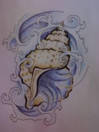 sea shell tattoo flash by jameson le strange on deviantart