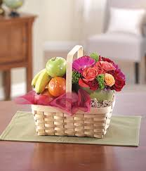 flower basket fruit flower basket at from you flowers