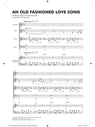 paul williams an fashioned song satb piano piano