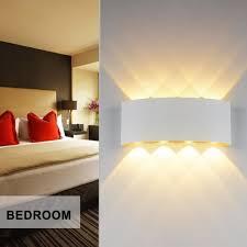 appliques chambre à coucher applique murale interieur led effet moderne 8w blanc chaud en