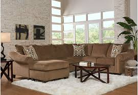 Living Room Sets Sectionals Lago Vista Chocolate 3 Pc Sectional Living Room Living Room Sets