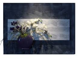 tableau original design tableau floral peinture décoration murale fleur en 3d