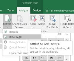 how do you refresh a pivot table python refresh excel pivot tables stack overflow