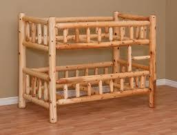 White Cedar Log Furniture For Log Cabin Décor - Log bunk beds