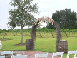 wedding arch grapevine summer crush vineyard winery