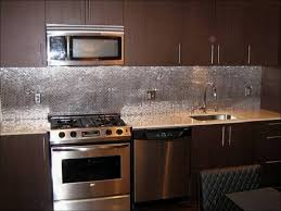 kitchen glass and stainless steel backsplash metal backsplash