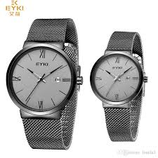 mesh bracelet watches images Eyki brand 2018 big sale couple watches mesh strap thin case jpg