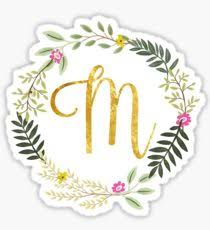 monogram letter stickers m letter stickers redbubble