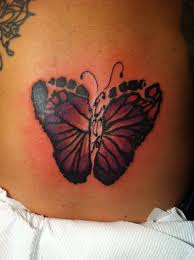 butterfly tattoo with baby footprint butterfly footprint tattoo if i have a girl i am so getting this