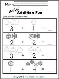 free subtraction worksheet great winter math activity practice