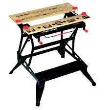black u0026 decker foldable workbench w 755mm departments diy at b u0026q